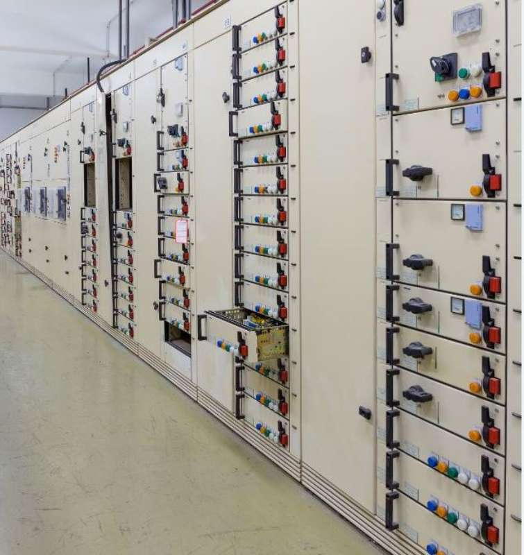 Electric Voltage Control Room Of A Power Plant