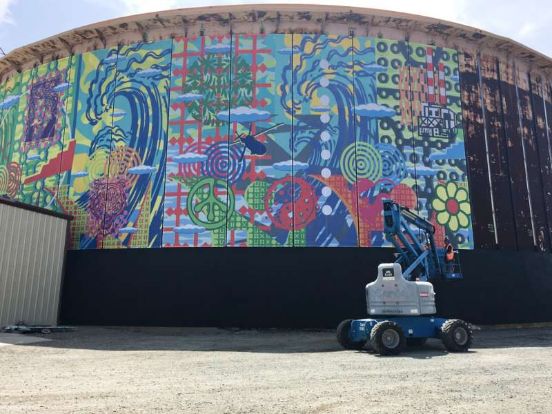 Magical Mystery Mural: How John Van Hamersveld and TRC Turned an Empty Oil Tank into a Work of Art