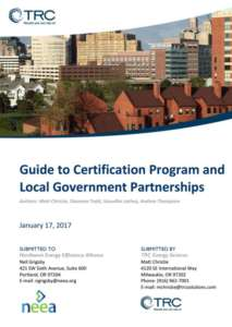 Guide to Certification Program and Local Government Partnerships