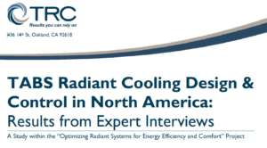 TABS Radiant Cooling Design & Control in North America: Results from Expert Interviews