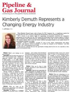 Kimberly Demuth Represents a Changing Energy Industry