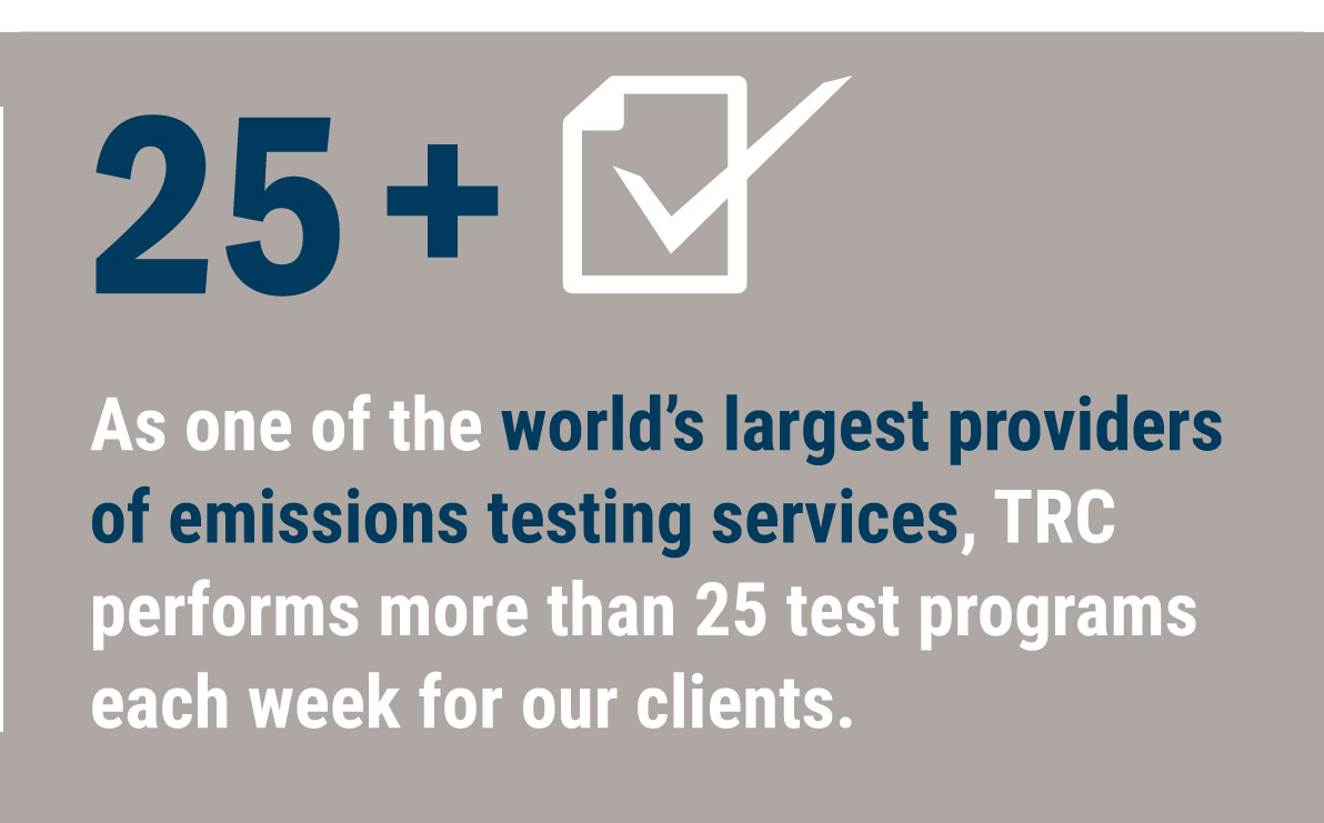 TRC provides over 25 test programs weekly